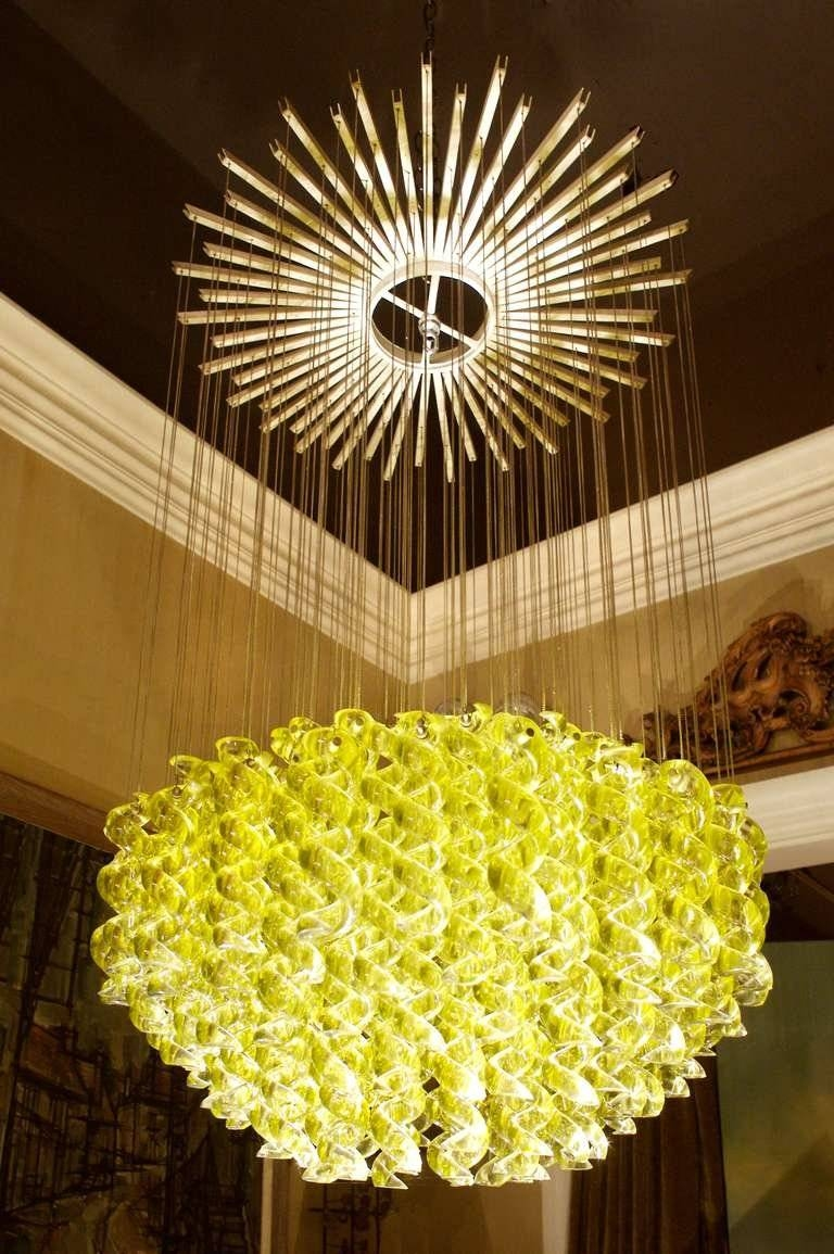 Exceptional Venetian Blow, Glass Pendant Light Fixture For Sale At intended for Venetian Glass Ceiling Lights (Image 5 of 15)