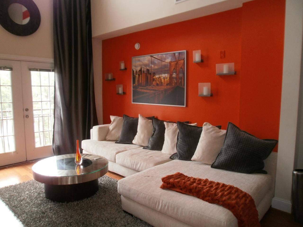 Exciting Burnt Orange Living Room Design – Burnt Orange Decorating Throughout Burnt Orange Living Room Sofas (View 10 of 15)