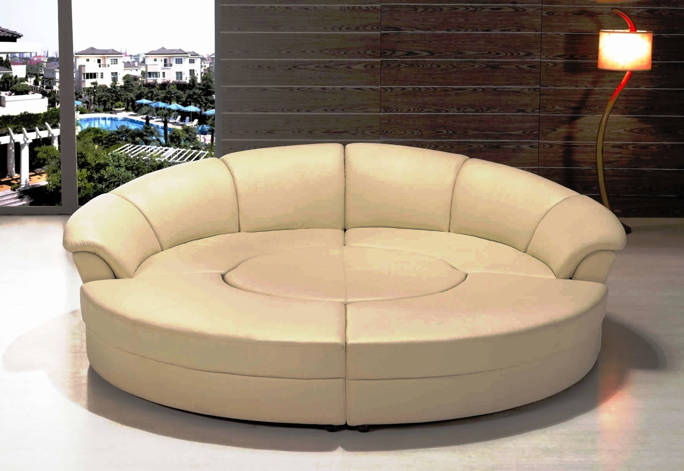 Exellent Round Sectional Sofa Bed Intended Decorating Ideas Regarding Semi Round Sectional Sofas (View 3 of 15)