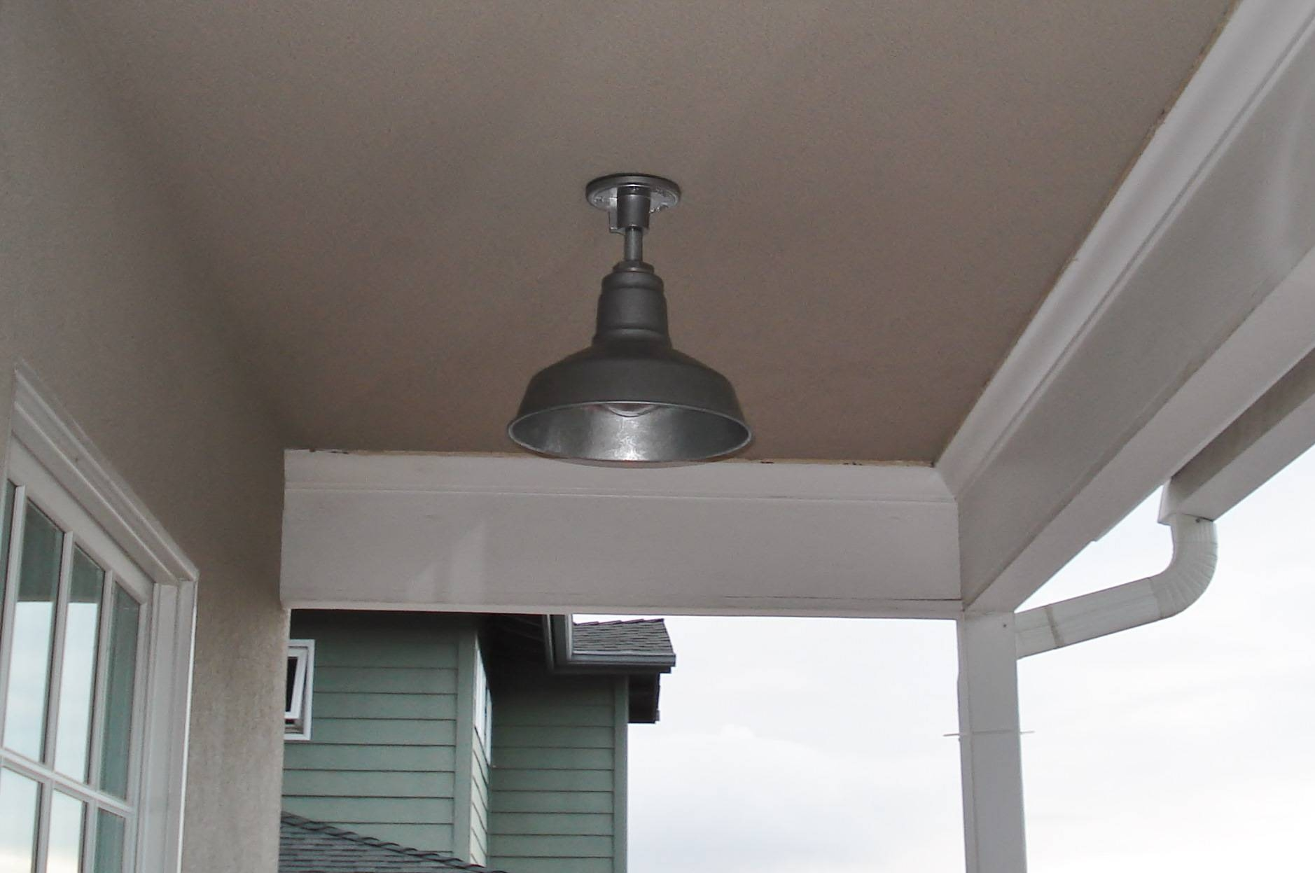 Exterior Lighting Gets Update With Sturdy Stem Mount Pendant For Galvanized Pendant Barn Lights (View 7 of 15)