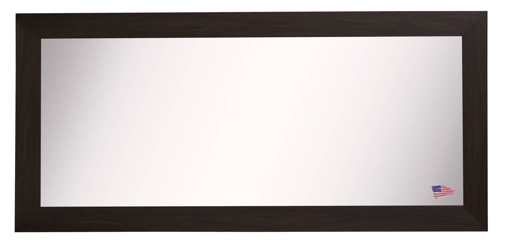 Extra Large Black Walnut Mirror & Reviews | Allmodern inside Extra Large Black Mirrors (Image 6 of 15)