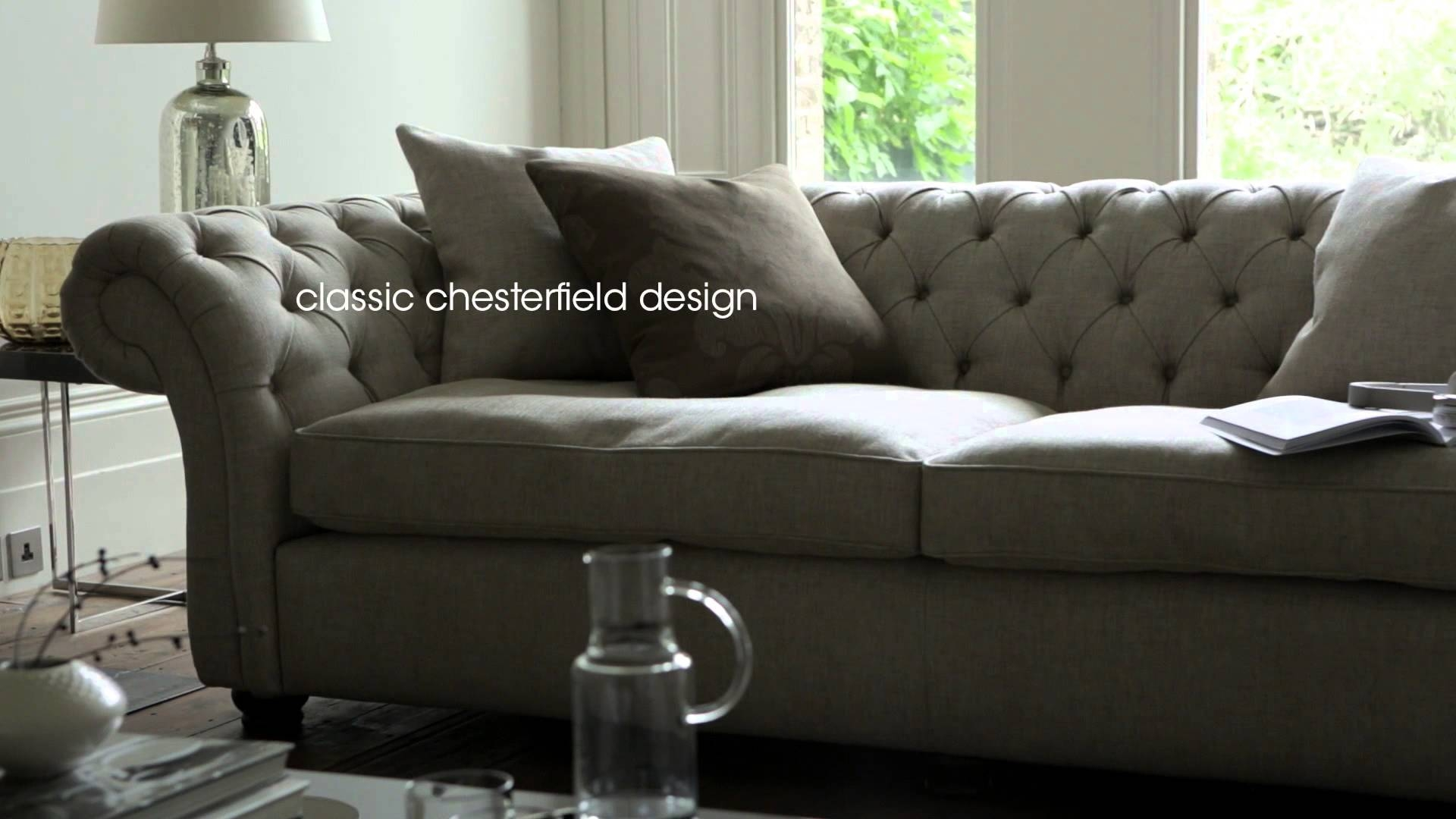 Fabric Chesterfield Sofas & Chairs - Langham Sofas & Furniture with regard to Chesterfield Sofas And Chairs (Image 10 of 15)
