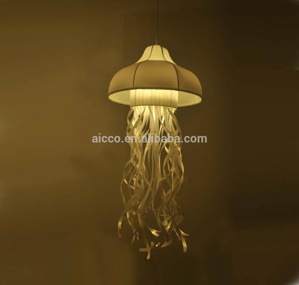 Fabric Jellyfish Decorative Hanging Fabric Jellyfish Kids Modern inside Jellyfish Pendant Lights (Image 5 of 15)