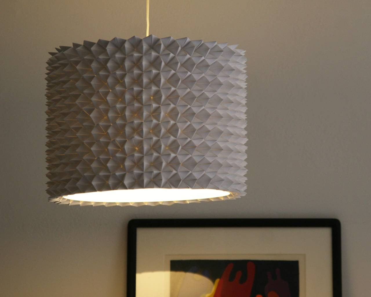 Faceted Pendant Lights – The Large Drum Shade | The 3 R's Blog inside Rectangular Drum Pendant Lights (Image 9 of 15)