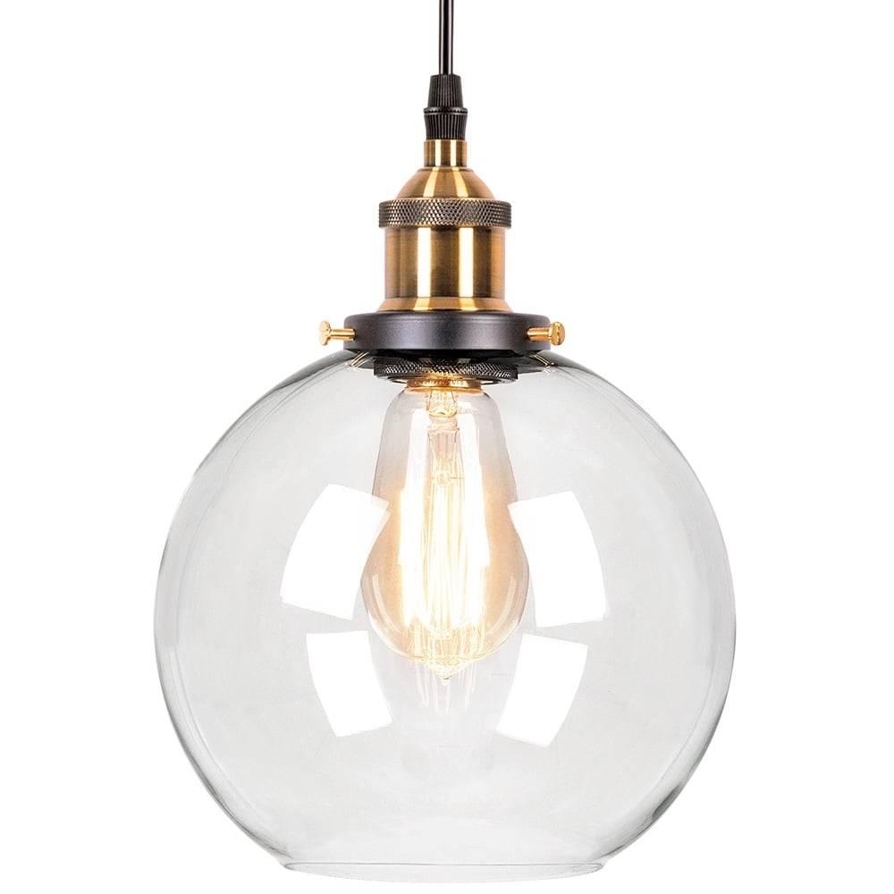 Factory Glass Sphere Pendant Light | Bar & Restaurant Lighting in Glass Sphere Pendant Lights (Image 4 of 15)