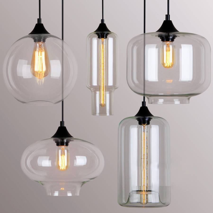 Fair Glass Pendant Light Coolest Pendant Remodeling Ideas With throughout Paxton Glass 8 Lights Pendants (Image 11 of 15)
