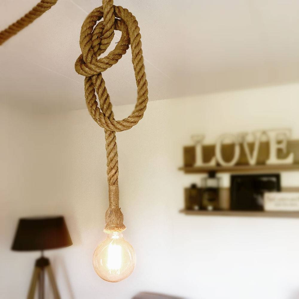 Fancy Rope Pendant Light 78 On White Pendant Lighting With Rope intended for Fancy Rope Pendant Lights (Image 9 of 15)