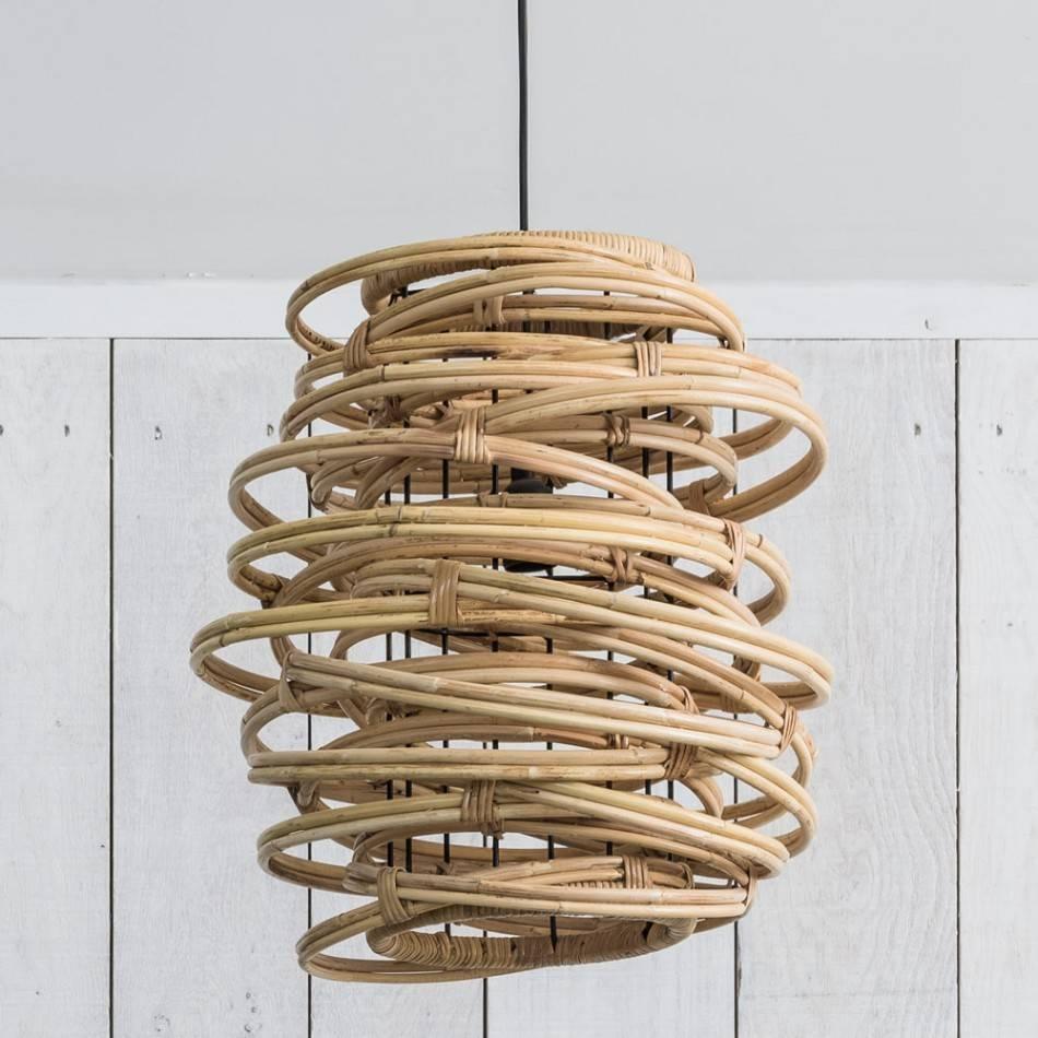 Fara Rattan Pendant | Lighting | Graham And Green for Rattan Pendant Lighting (Image 3 of 15)