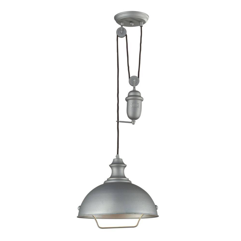Farmhouse Pulley Pendant Light - Copper Finish | 65061-1 inside Pulley Pendant Lights (Image 8 of 15)