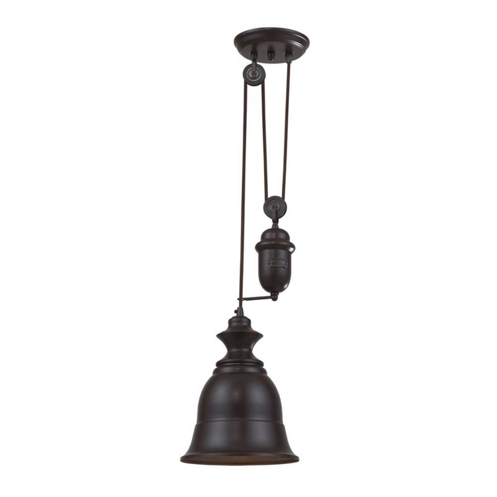 Farmhouse Pulley Pendant Light - Copper Finish | 65061-1 regarding Pulley Pendant Lights (Image 9 of 15)