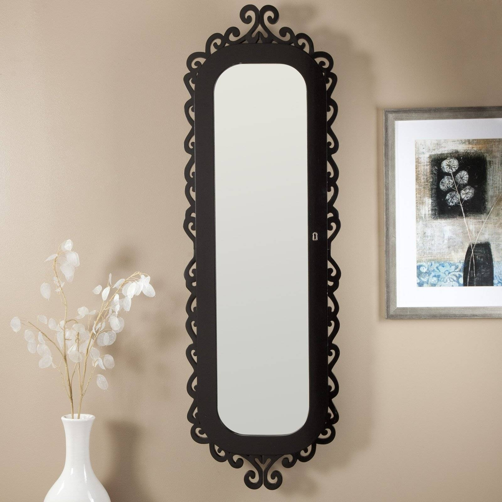 Fascinating Black Polished Iron Wall Mirrors With Vintage Style With Regard To Cheap Vintage Style Mirrors (View 8 of 15)