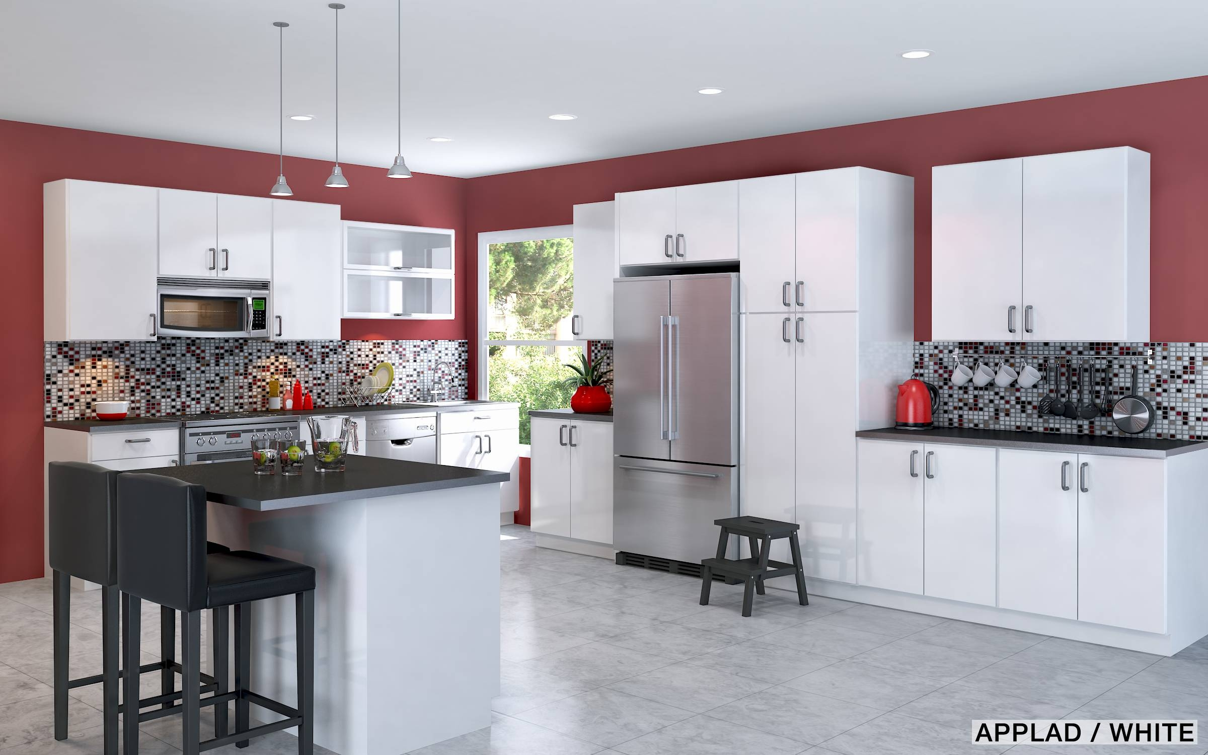 Features Light Decor : Stained Glass Hanging Lamp Patterns Regarding Red Kitchen Pendant Lights (View 14 of 15)