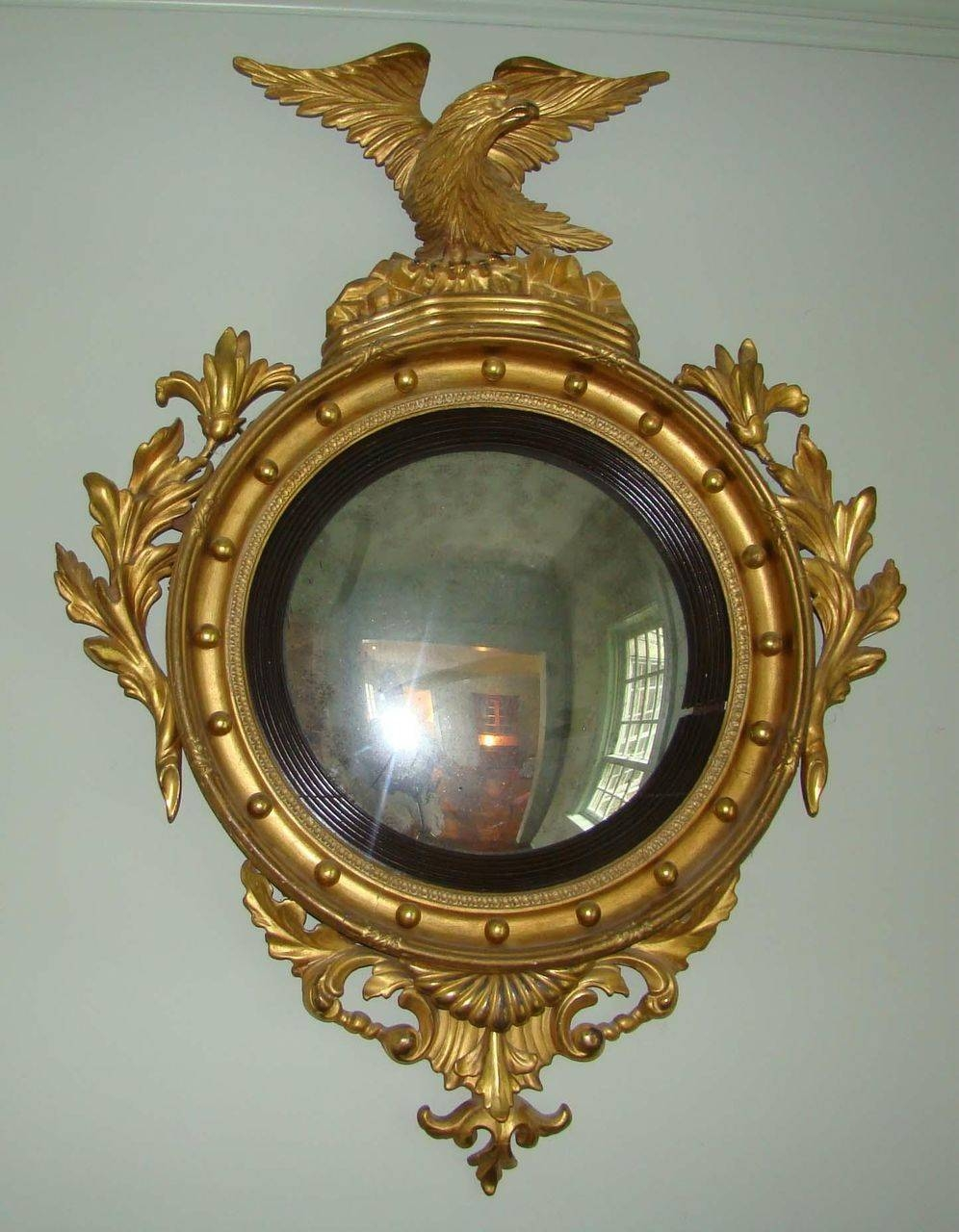 Federal Period Convex Mirror From Wayne-Mattox-Antiques On Ruby Lane with regard to Antique Convex Mirrors (Image 9 of 15)