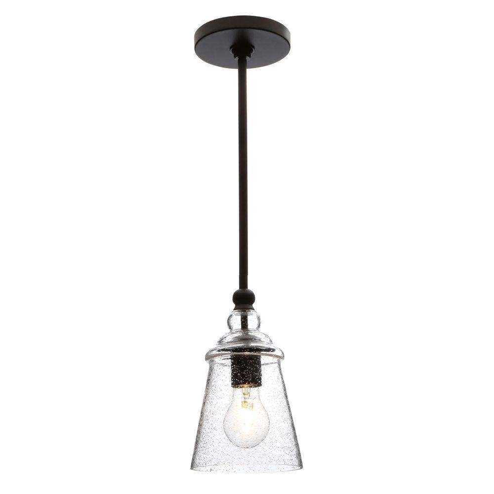 Feiss Urban Renewal 1-Light Oil-Rubbed Bronze Pendant-P1261Orb in Oil Rubbed Bronze Mini Pendant Lights (Image 3 of 15)