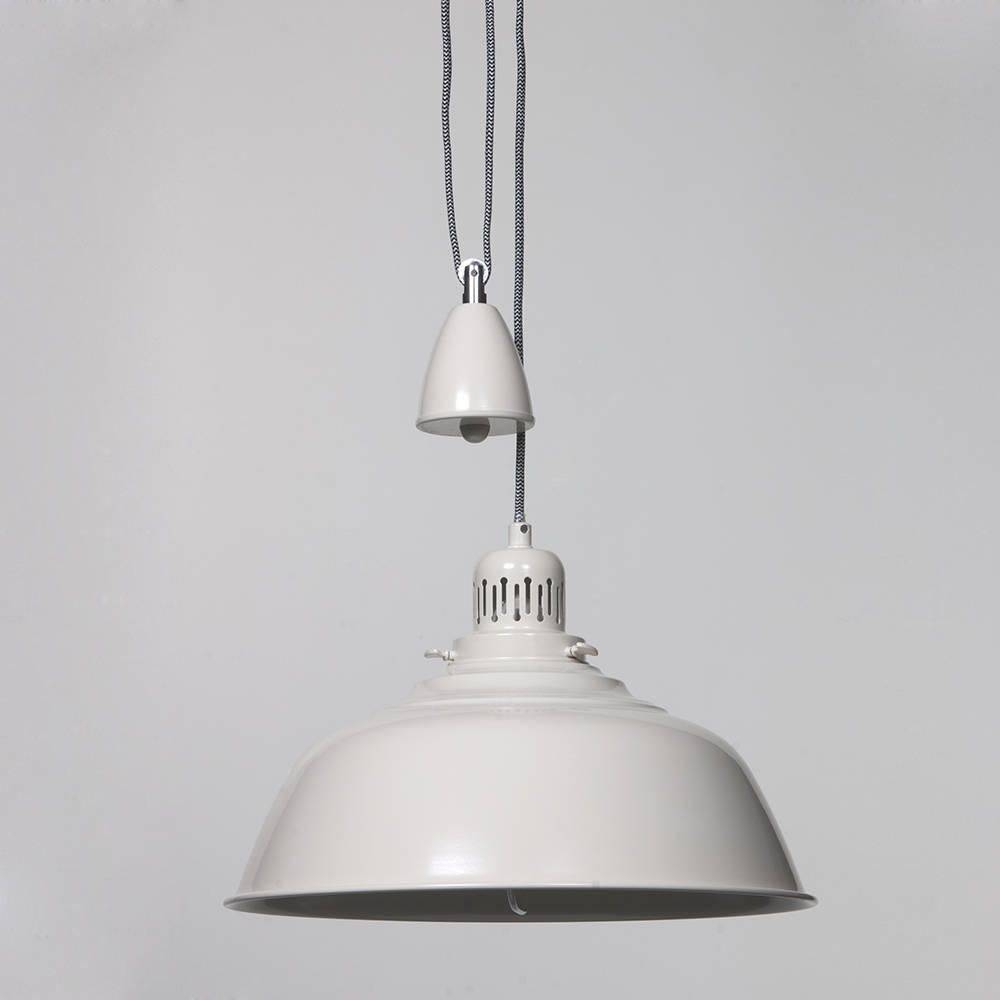 Fisherman Pendant Ceiling Light Rise And Fall - Cream From Litecraft regarding Rise And Fall Pendant Lights (Image 8 of 15)