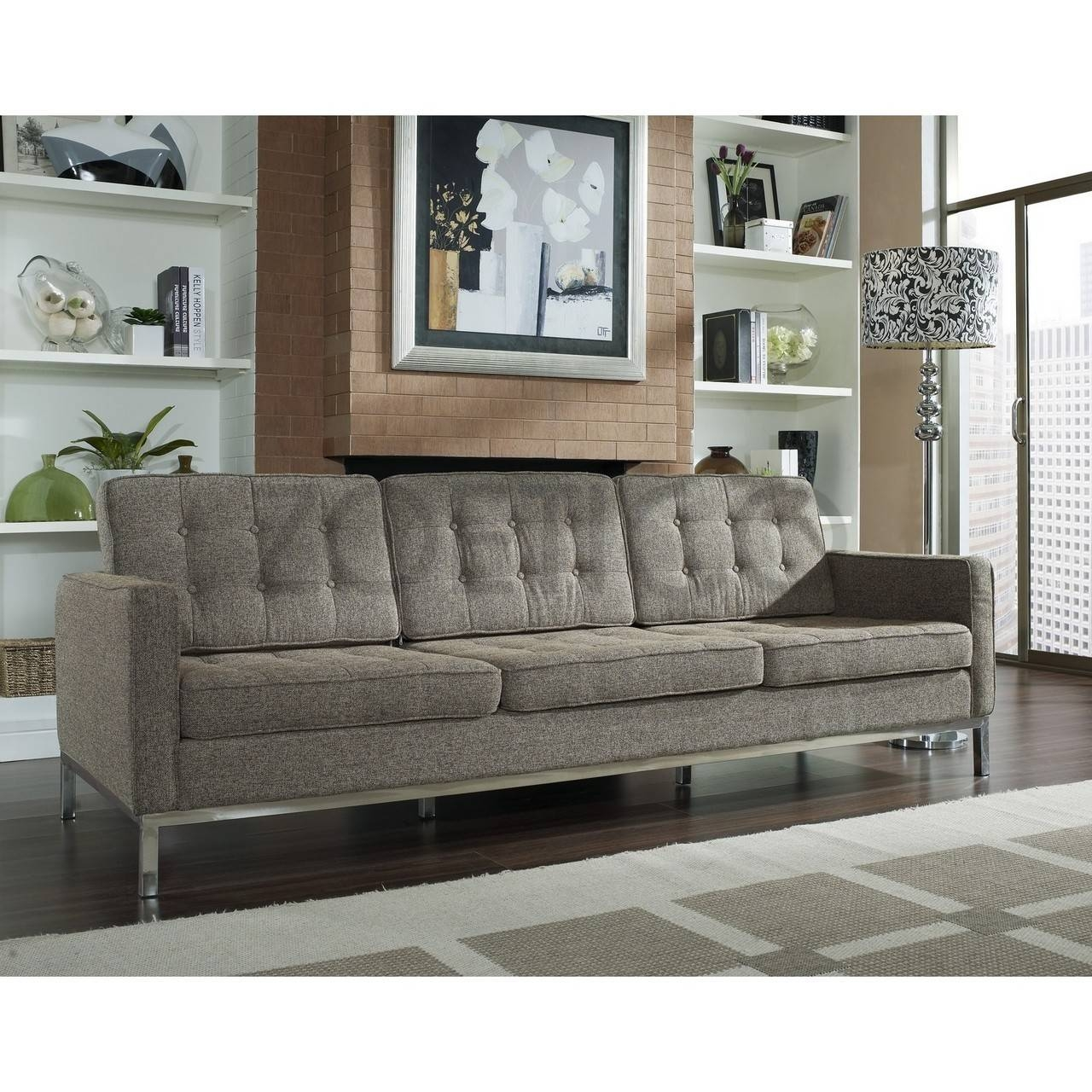 Florence Knoll Style Sofa In Fabric – (Multiple Colors/materials Within Knoll Sofas (View 14 of 15)