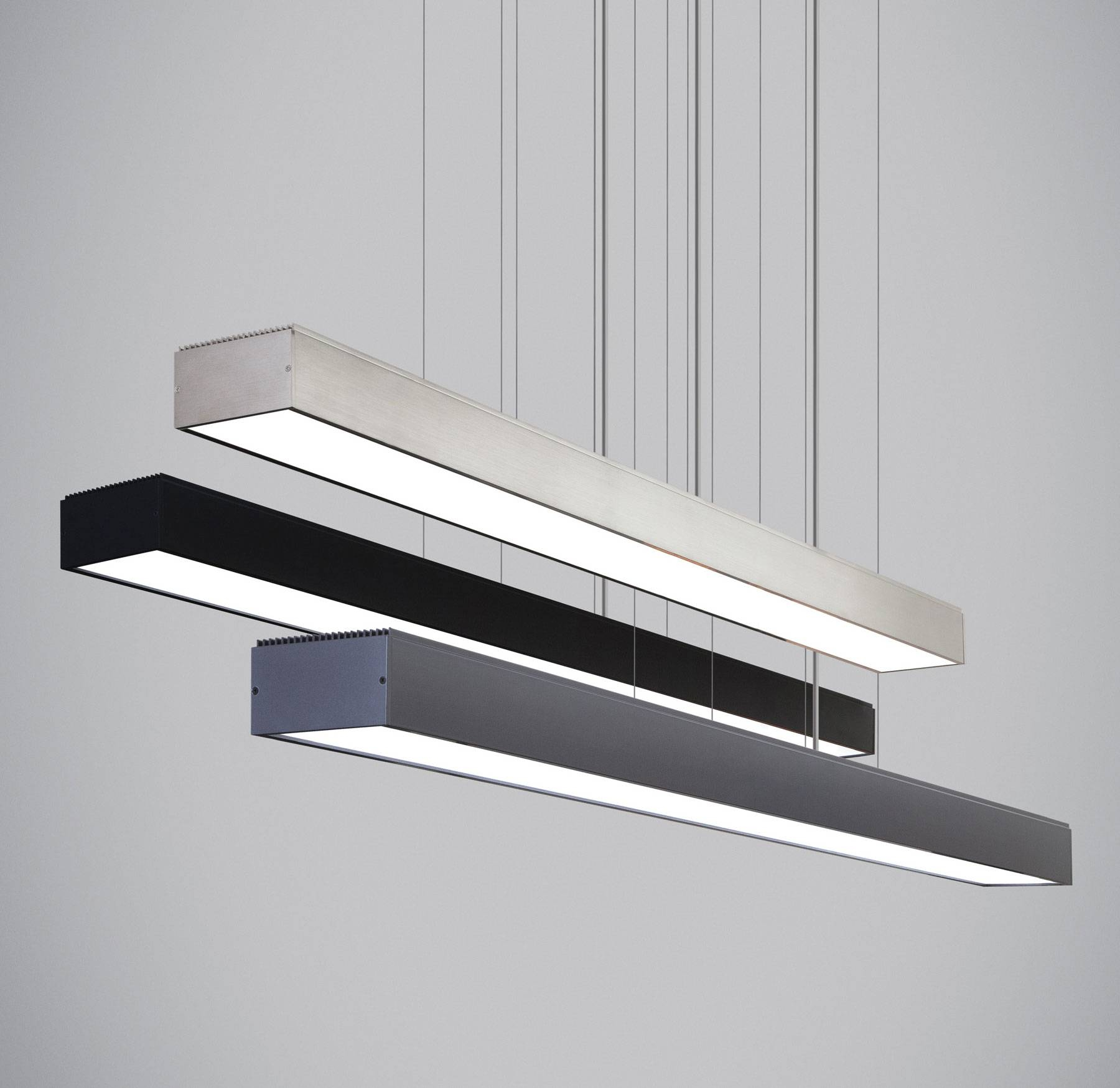 Fluorescent Lights: Fluorescent Pendant Lights. Fluorescent inside Commercial Hanging Lights Fixtures (Image 8 of 15)