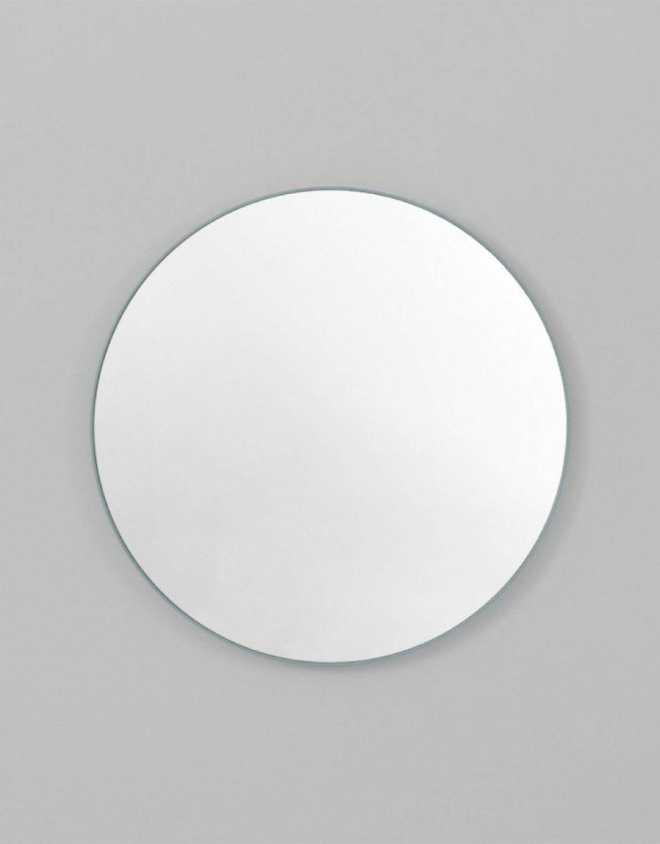 Flynn Round Mirrors | Various Colours, Sizes, Middle Of Nowhere for White Round Mirrors (Image 6 of 15)