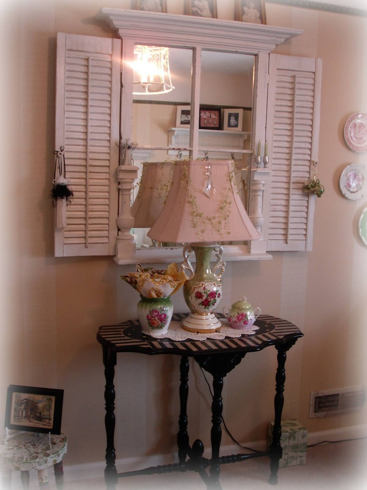 Forever Decorating!: 1880's Window Turned Mirror inside Window Shutter Mirrors (Image 8 of 15)