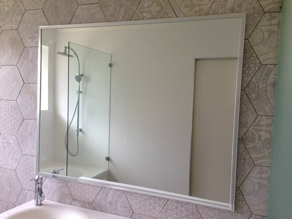 Framed Mirrors – Glass, Showerscreens, Mirrors, Doors |Gobo Throughout Chrome Framed Mirrors (View 9 of 15)