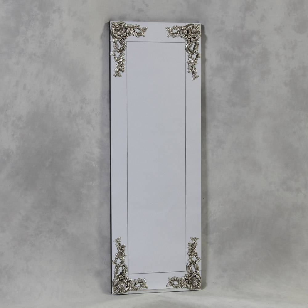 Frameless Metallic Wall Mirror 165 X 57 Cm Frameless Metallic Wall regarding Slim Wall Mirrors (Image 6 of 15)