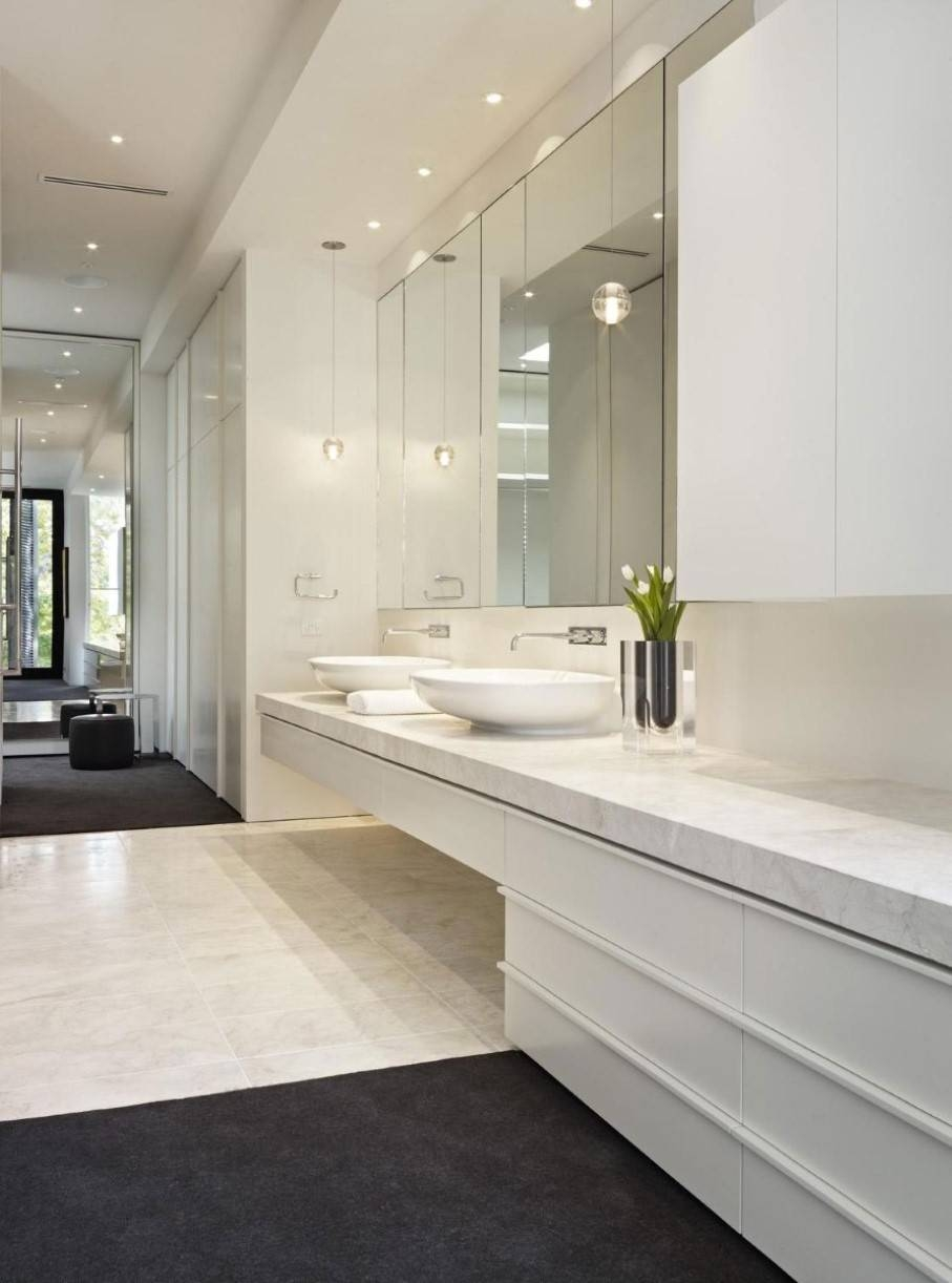 Frameless Wall Mirrors For Bathroom Custom Regarding Large Image15 Inspirations Of