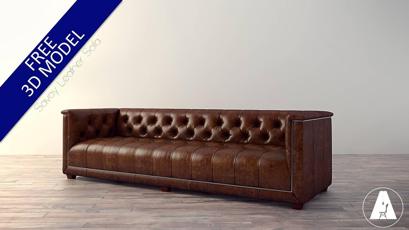 Free 3D Model- Savoy Leather Sofa On Behance regarding Savoy Leather Sofas (Image 5 of 15)