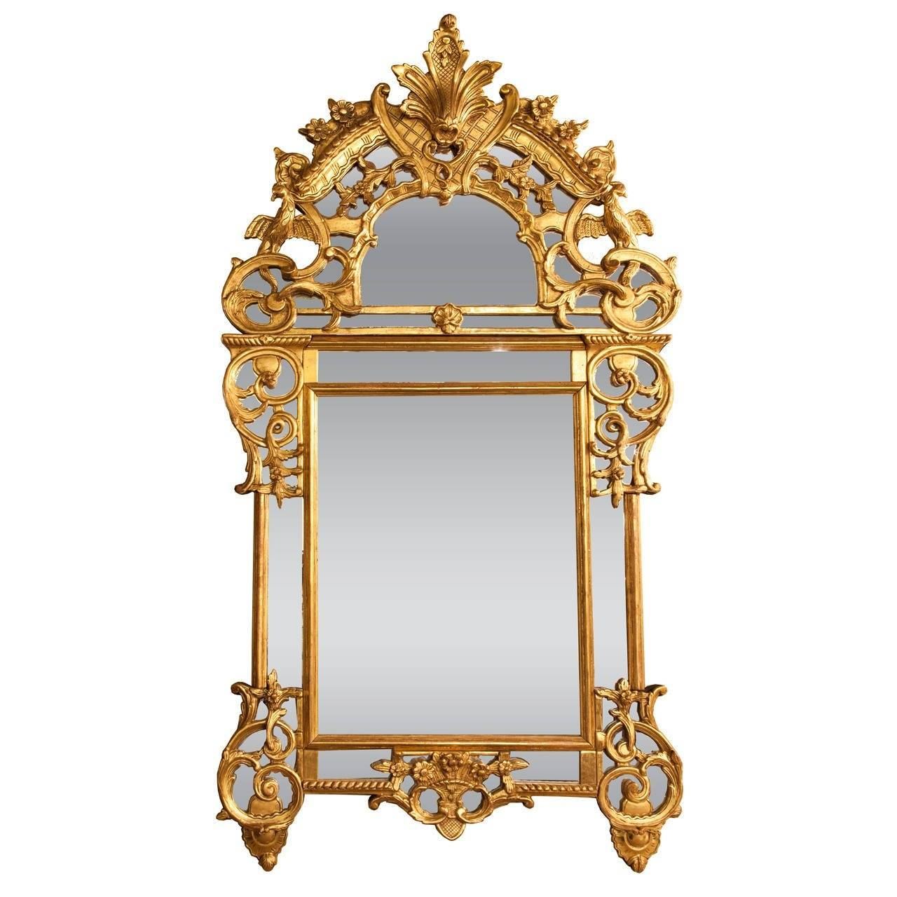 French 19Th C Chinese Chippendale Style Giltwood Mirror For Sale with regard to French Style Mirrors (Image 5 of 15)