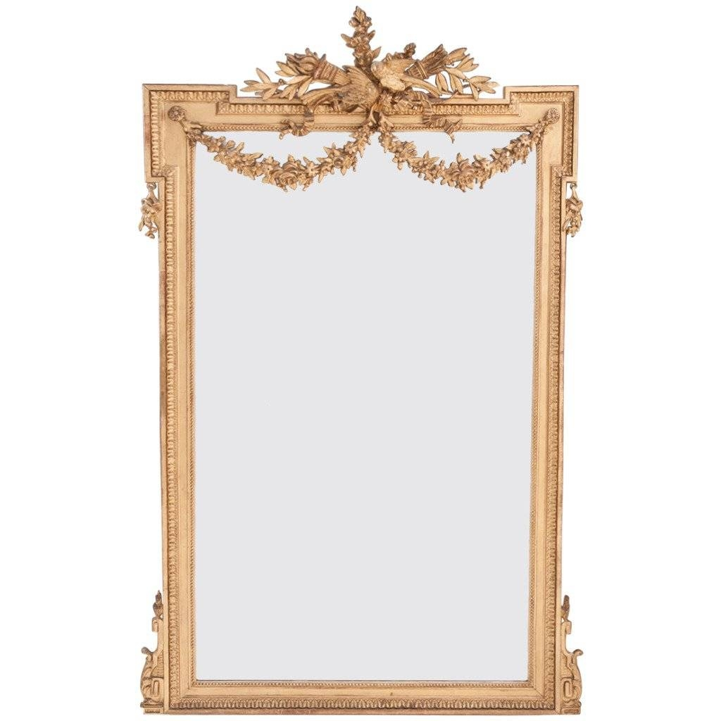 French 19Th Century Louis Xvi Gold Gilt Mirror At 1Stdibs for Gold Gilt Mirrors (Image 6 of 15)