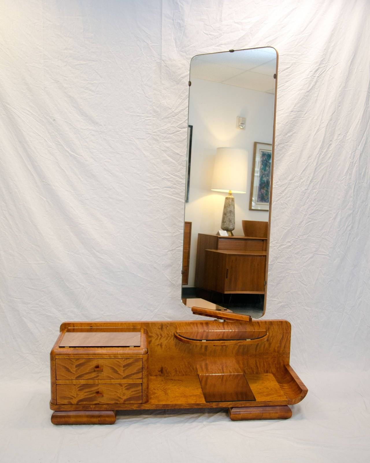 French Art Deco Vanity, Full Length Cheval Dressing Mirror At 1Stdibs pertaining to Art Deco Full Length Mirrors (Image 9 of 15)