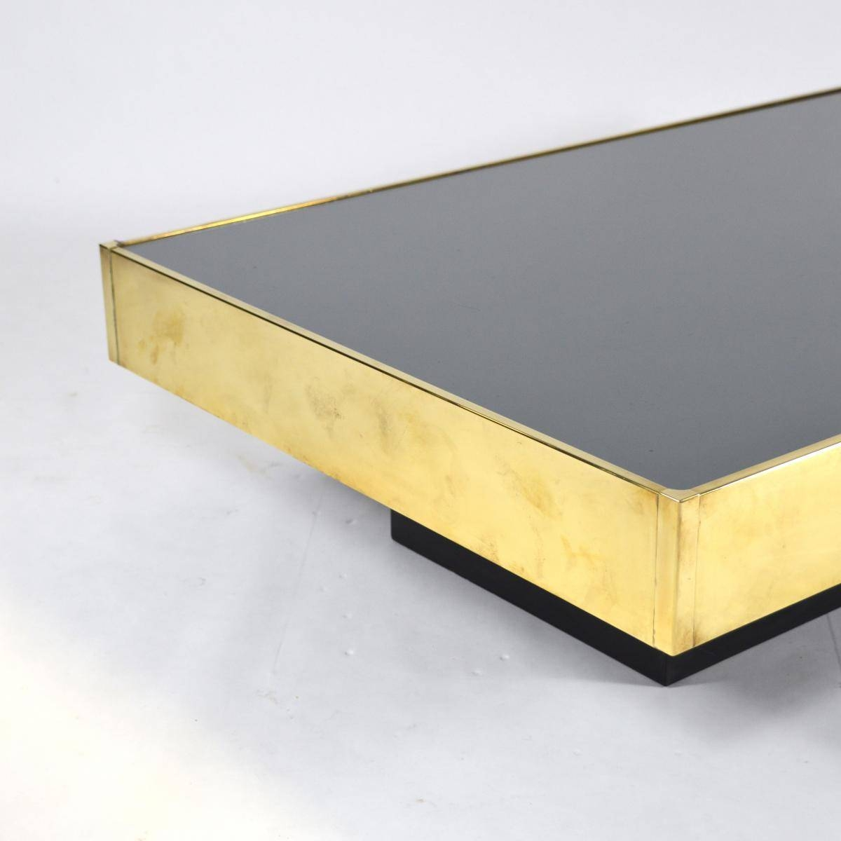 French Brass & Mirror Glass Coffee Tablewilly Rizzo For Sale with regard to Mirror Glass Coffee Table (Image 5 of 15)