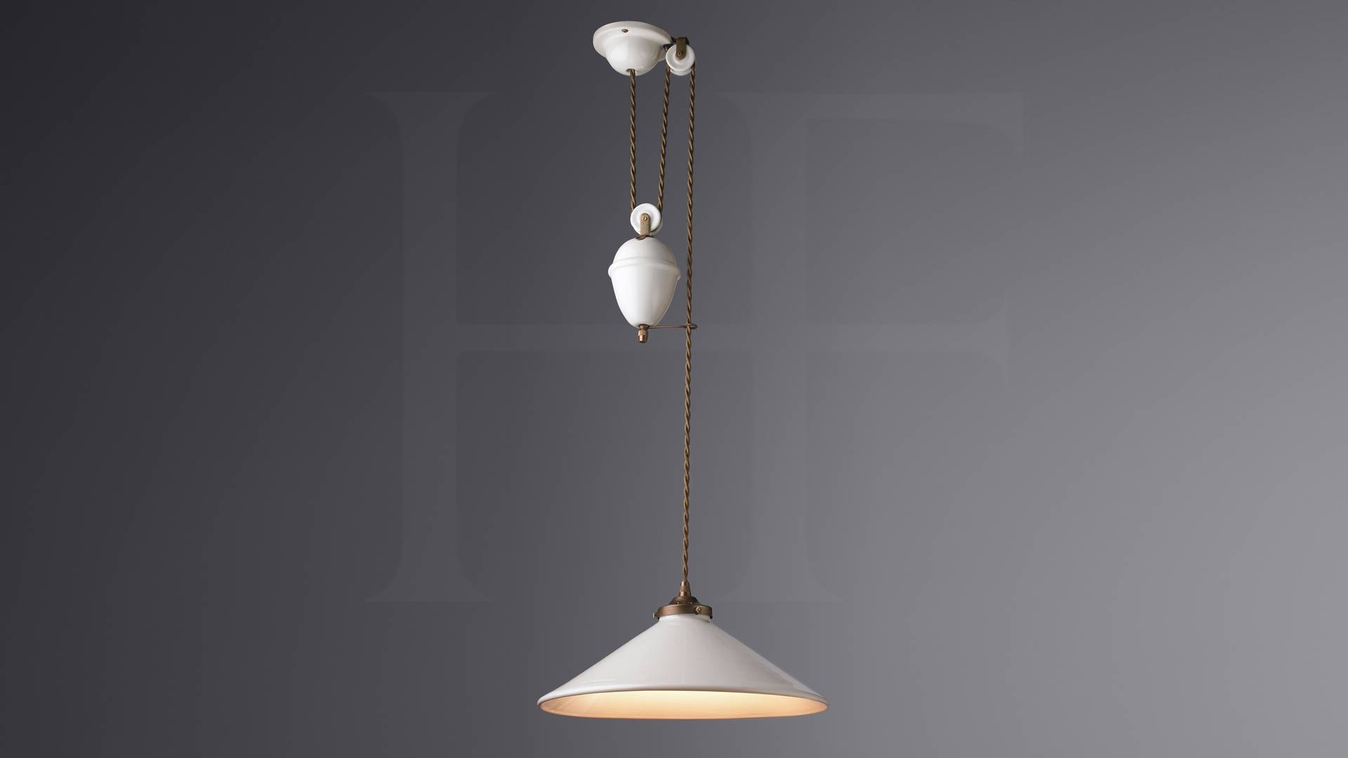 French Ceramic Rise & Fall, With Weightshector Finch Lighting pertaining to Rise and Fall Pendants (Image 6 of 15)