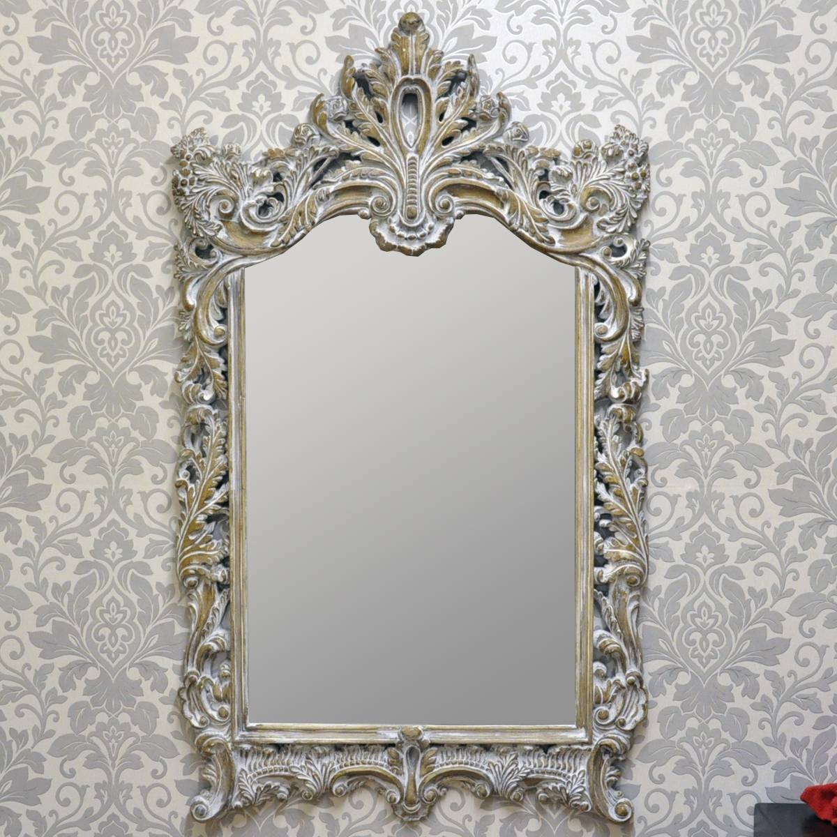 French Style Antique Wash Wall Mirror – Acacia Trading (Leeds) Ltd With Regard To French Style Wall Mirrors (View 3 of 15)