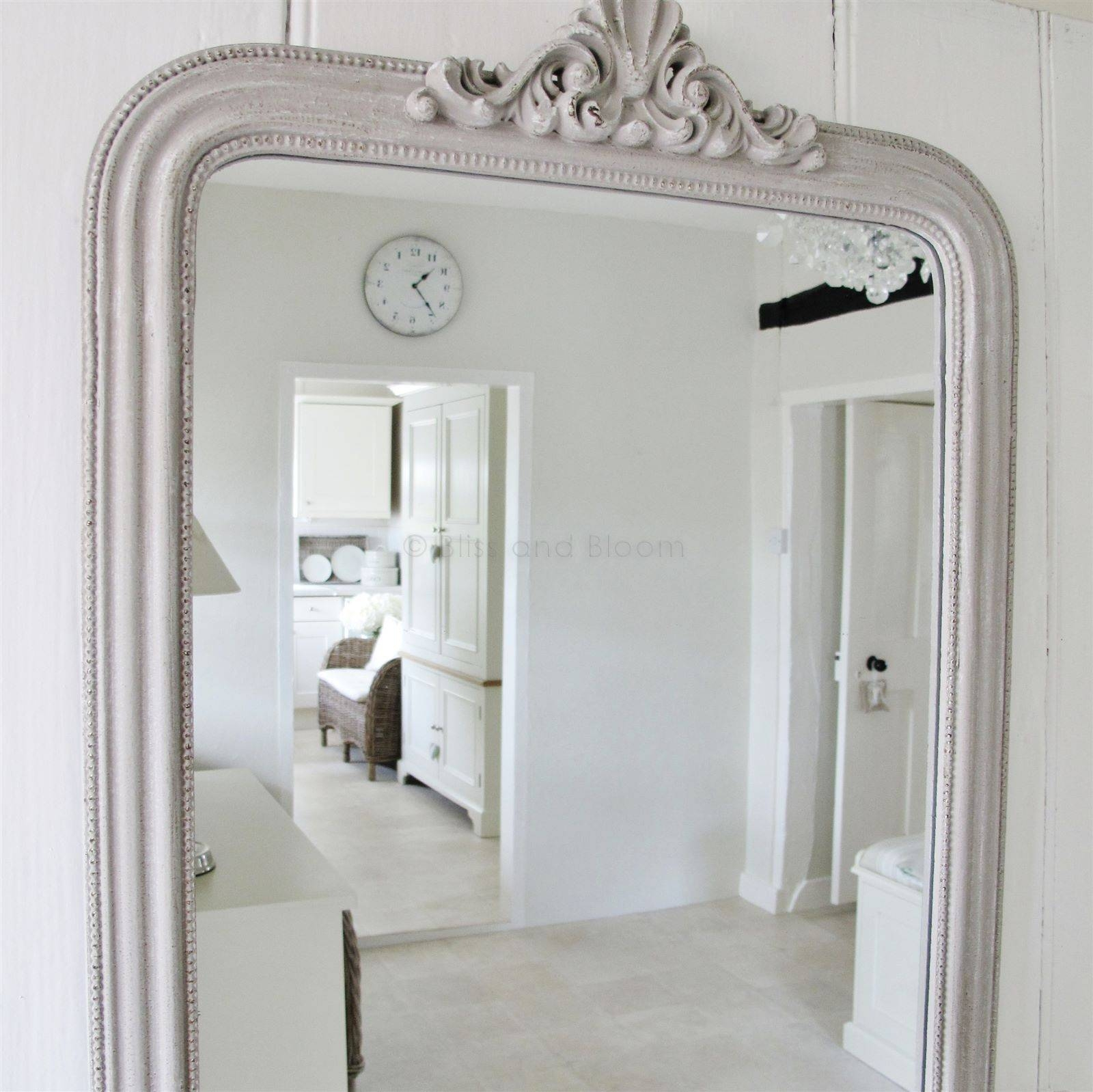French Style Grey Wall Mirror | Bliss And Bloom Ltd for French Style Mirrors (Image 7 of 15)