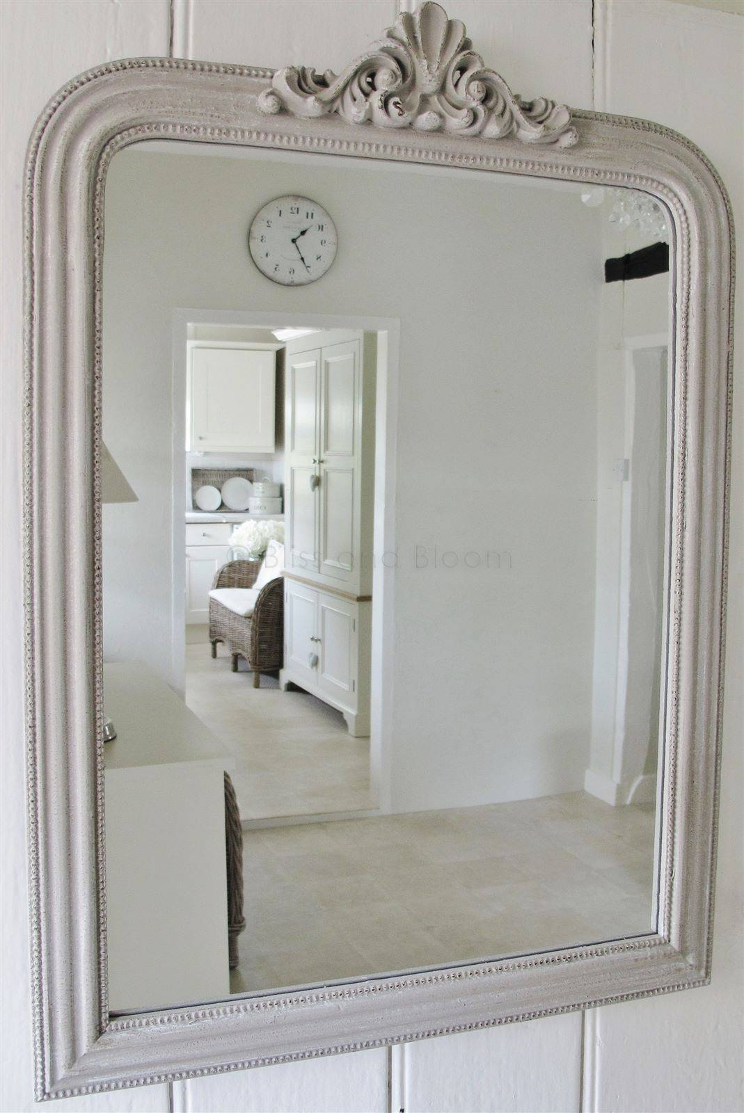 French Style Grey Wall Mirror | Bliss And Bloom Ltd Within French Style Wall Mirrors (View 4 of 15)