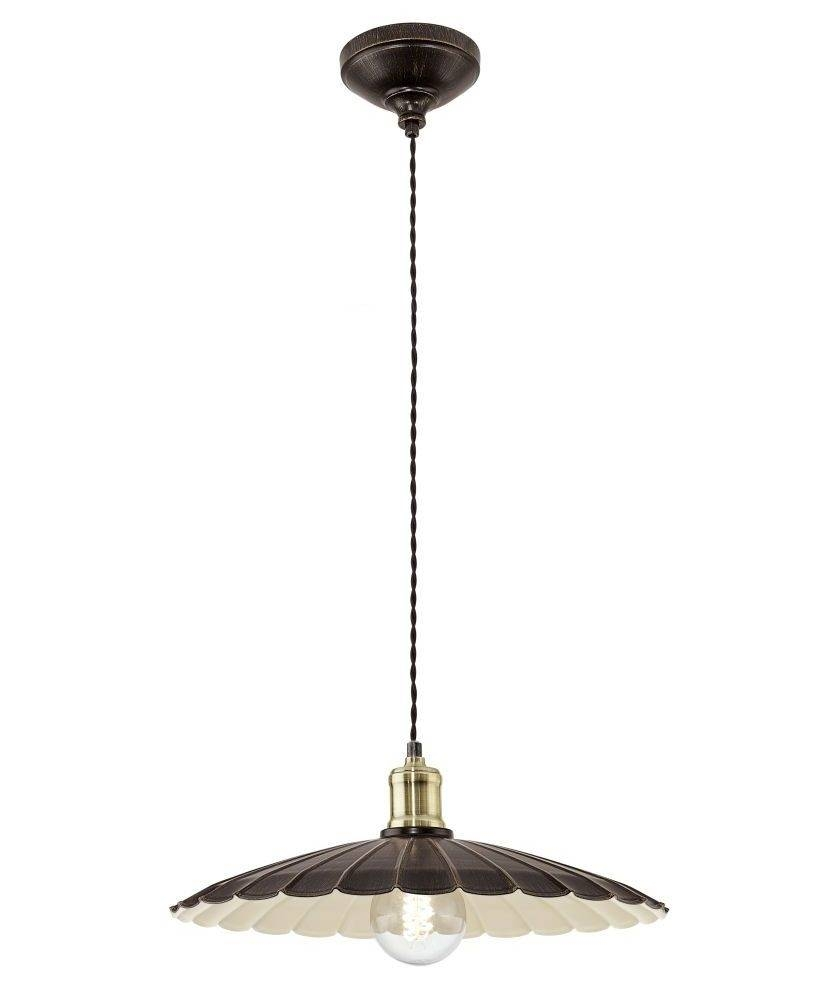 French Style Scalloped Edge Metal Light Pendant intended for Scalloped Pendant Lights (Image 7 of 15)