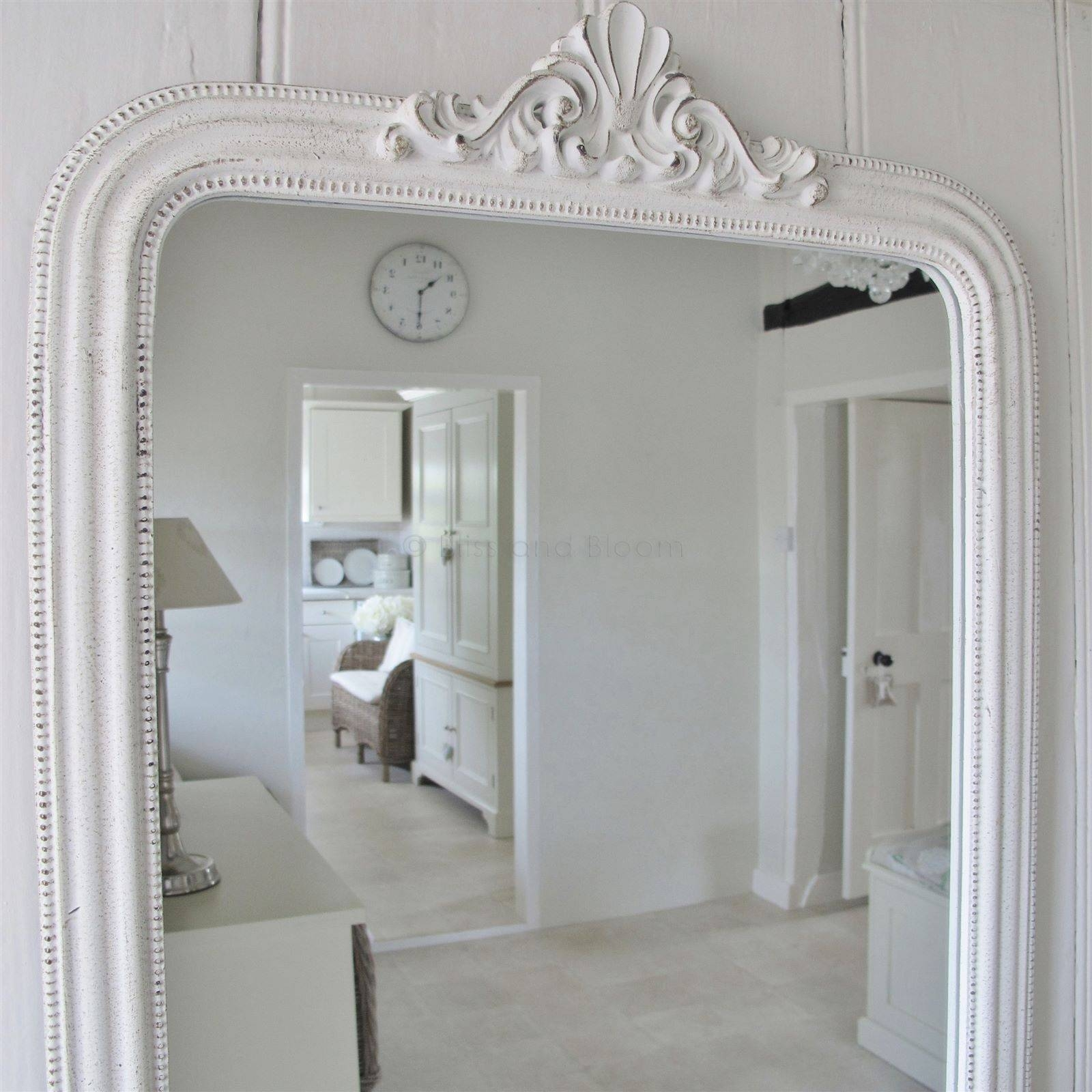 French Style White Wall Mirror | Bliss And Bloom Ltd throughout French Style Mirrors (Image 8 of 15)