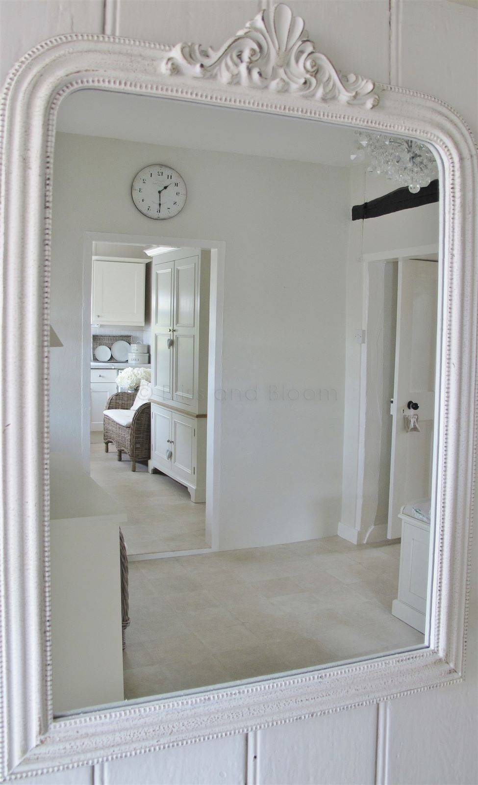 French Style White Wall Mirror | Bliss And Bloom Ltd With French Style Wall Mirrors (View 9 of 15)