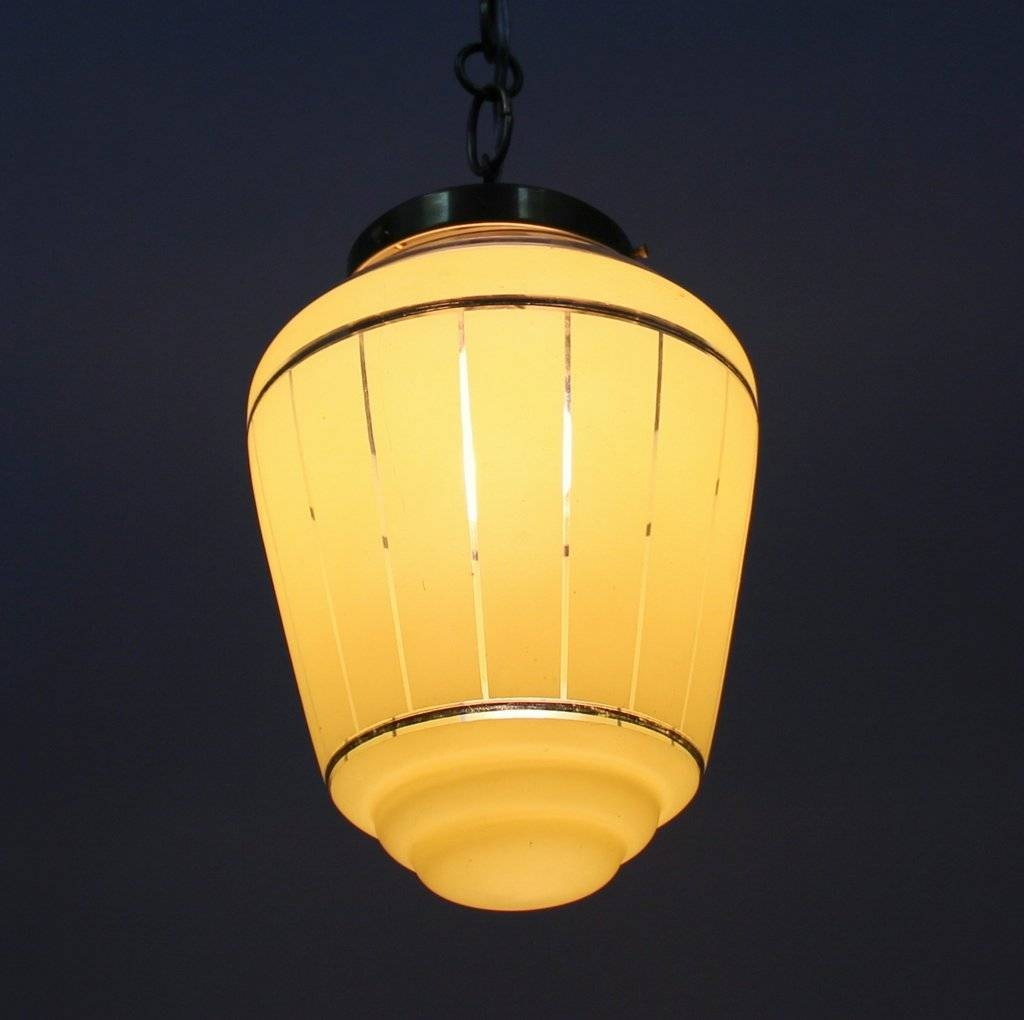 French Yellow Glass Pendant Lamp, 1950S For Sale At Pamono with regard to French Glass Pendant Lights (Image 8 of 15)
