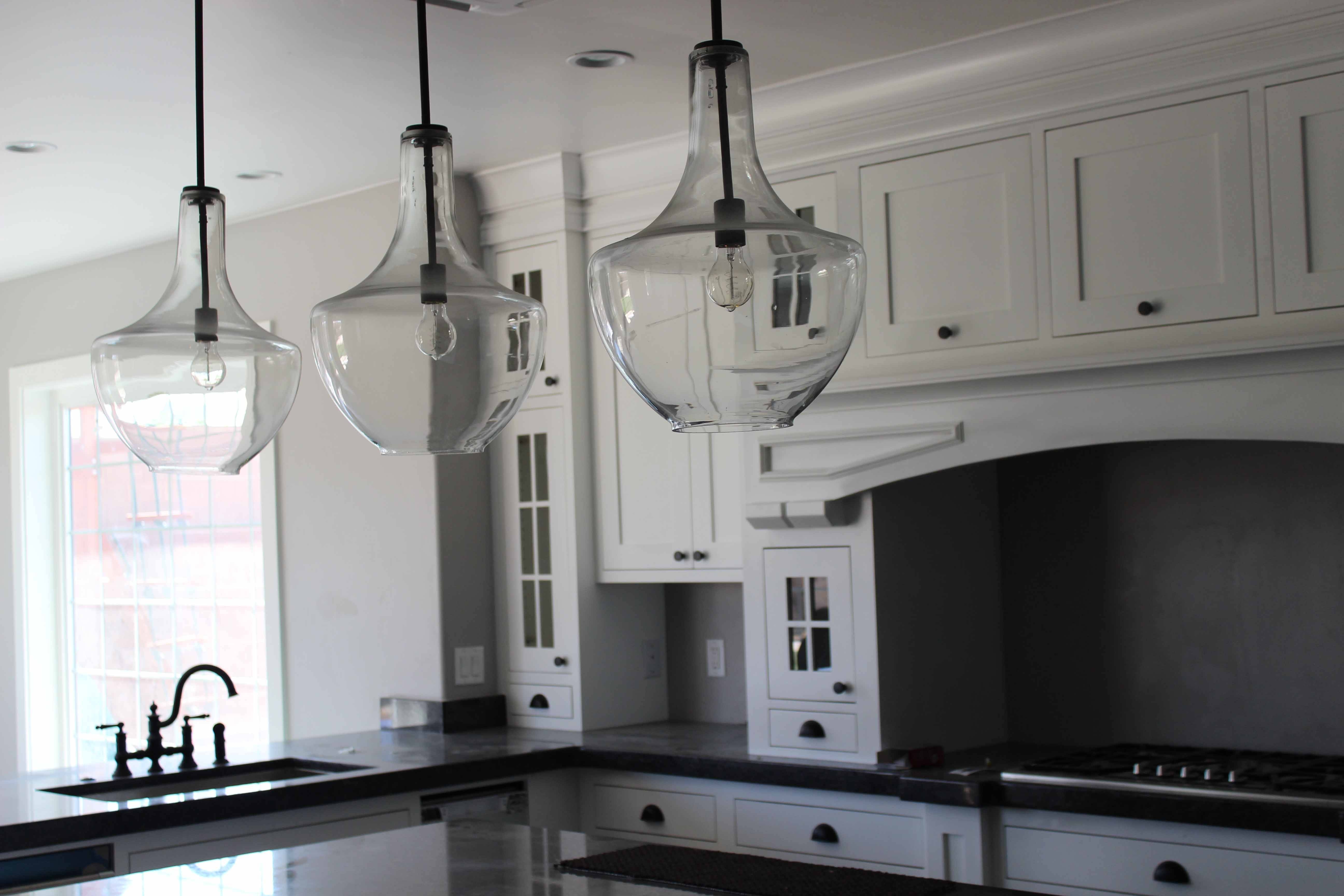 Fresh Clear Glass Pendant Lights For Kitchen Island 15 On 3 Bulb inside Double Pendant Lights For Kitchen (Image 6 of 15)