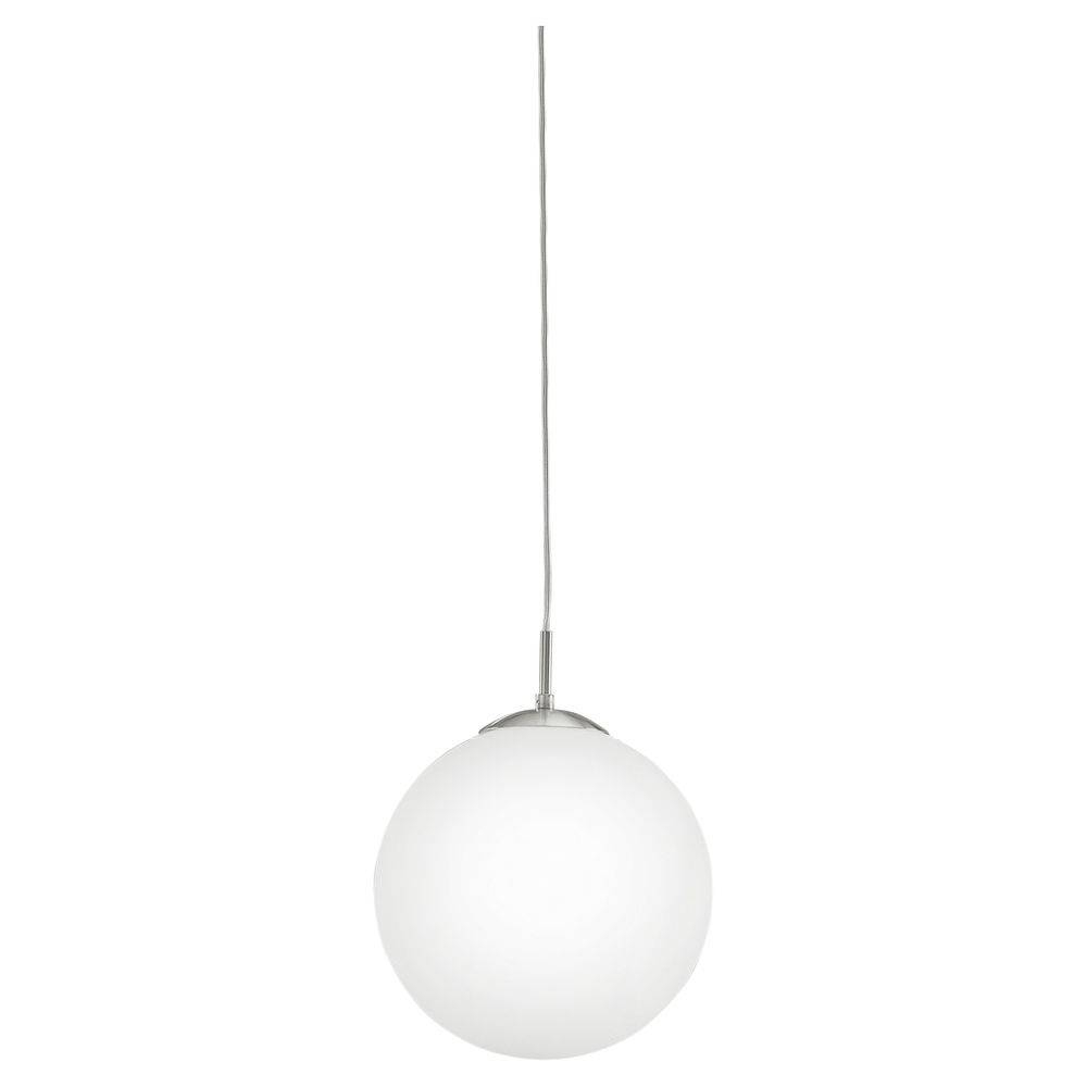 Frosted Glass Pendant Light - Baby-Exit with Glass Sphere Pendant Lights (Image 5 of 15)