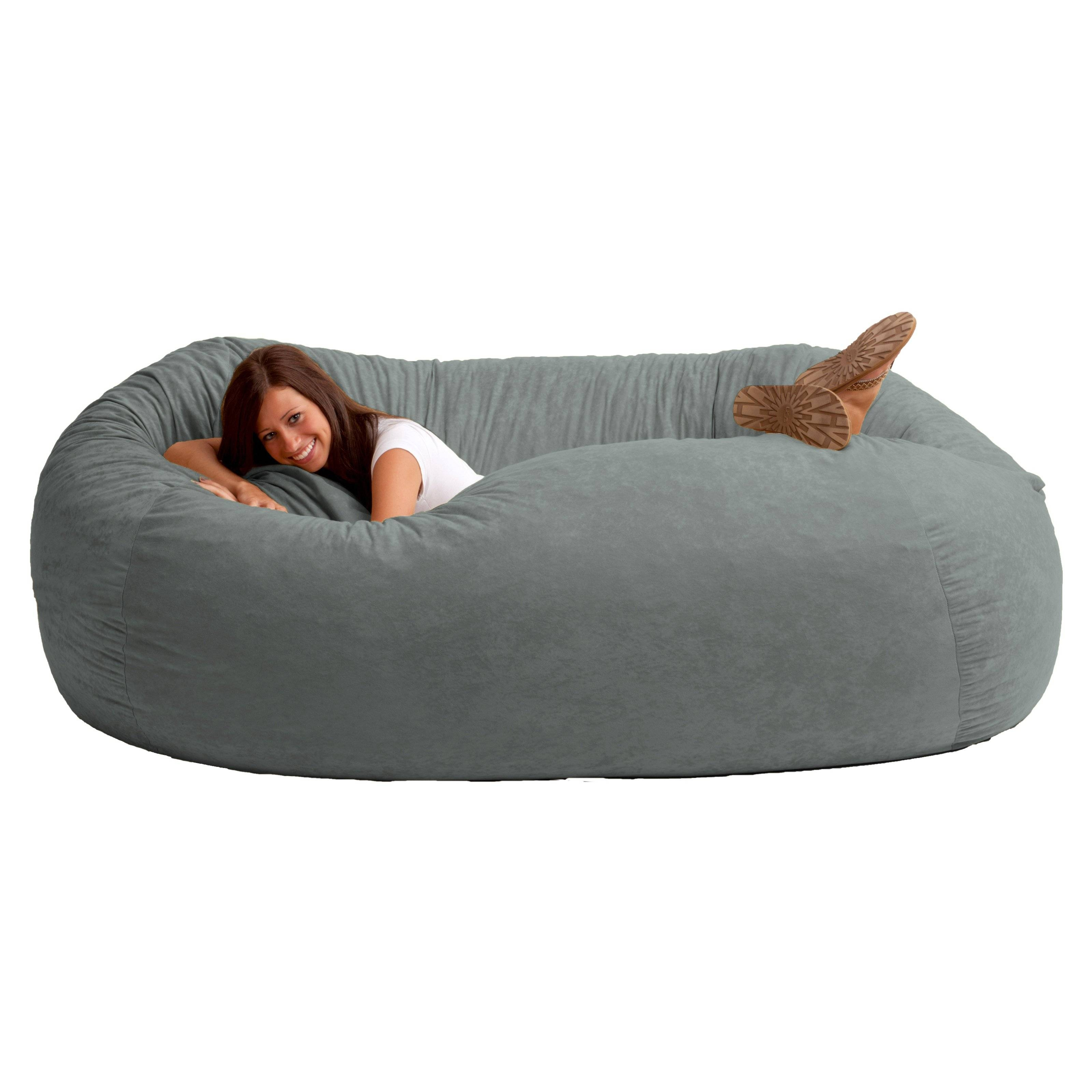 Fuf 7 Ft. Xxl Bean Bag Sofa | Hayneedle with Bean Bag Sofas and Chairs (Image 12 of 15)
