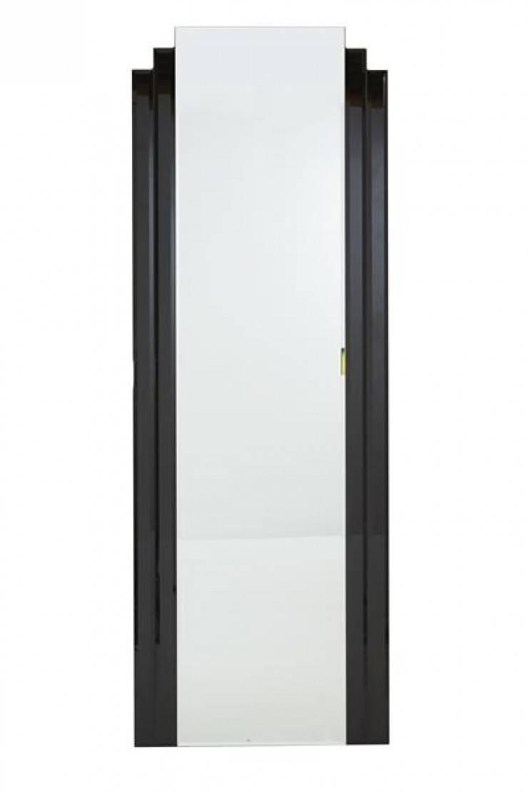 Full Length Art Deco Mirror In Black in Art Deco Full Length Mirrors (Image 11 of 15)