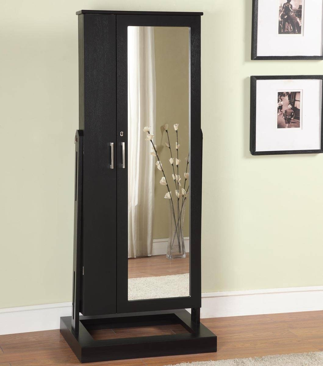 Full Length Black Mirror 145 Cute Interior And Free Standing Regarding Free Standing Black Mirrors (View 8 of 15)
