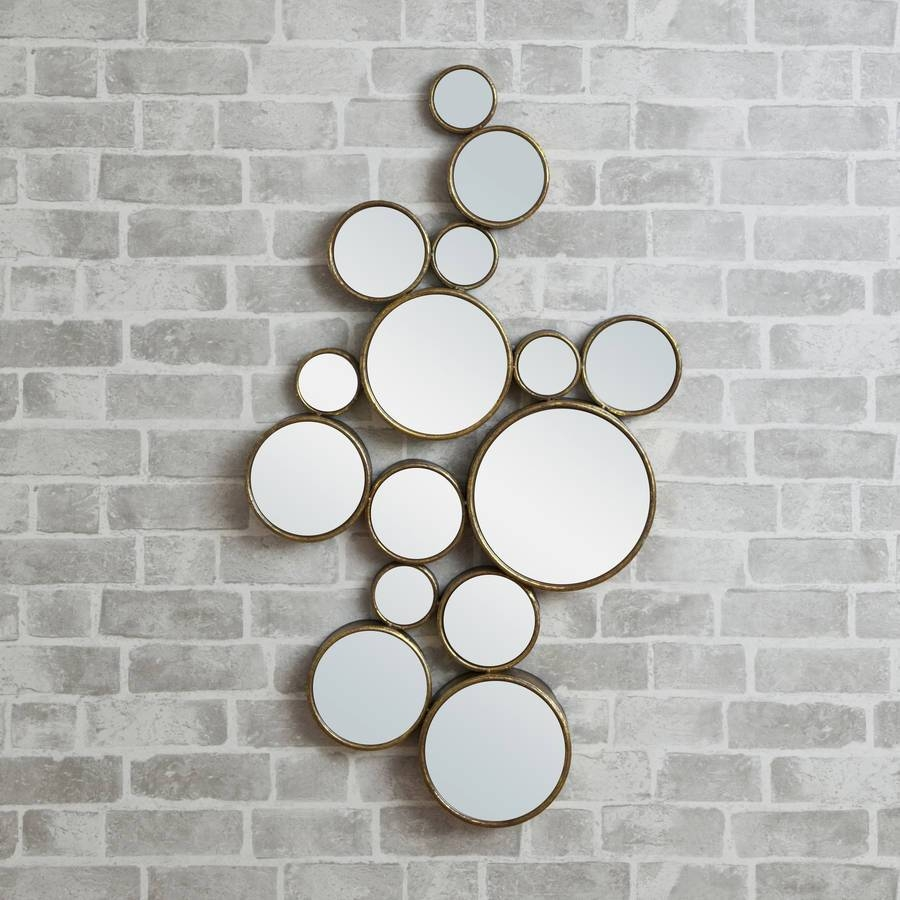 Funky' Circles Mirrordecorative Mirrors Online regarding Funky Wall Mirrors (Image 5 of 15)