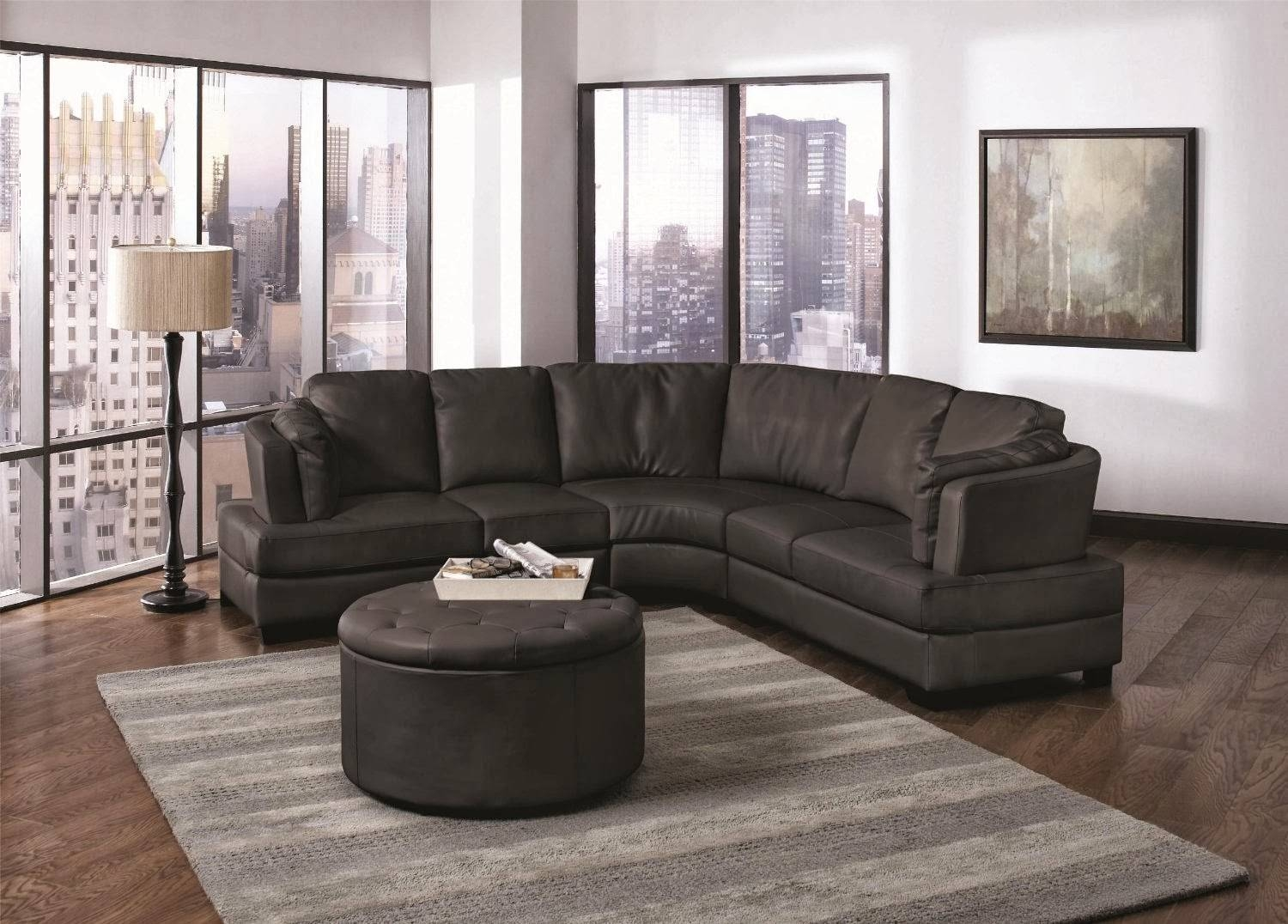 Furniture: Alluring Unique Curved Couches With Classic Design Home pertaining to Semi Round Sectional Sofas (Image 4 of 15)