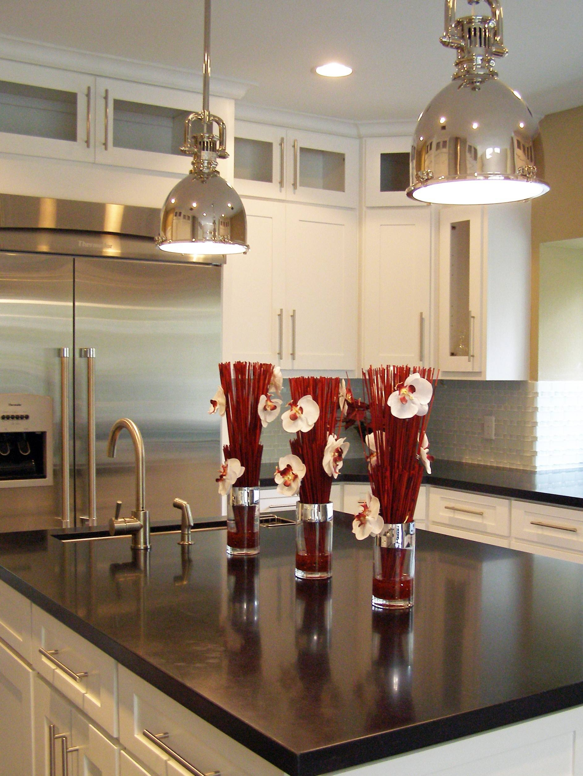 Furniture Appealing Pendant Lights For Kitchen Islands Wooden With Stainless Steel Kitchen Lights (View 5 of 15)