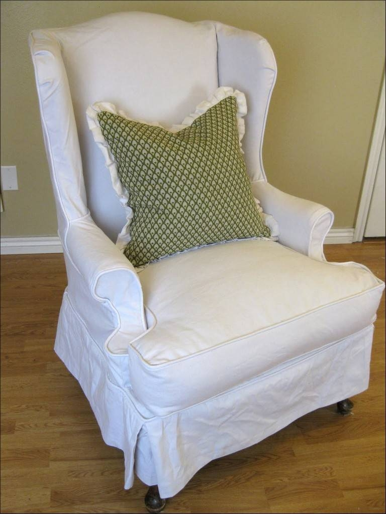Furniture: Armchair Slipcovers | Armless Chair Slipcover | Sofa with regard to Armless Slipcovers (Image 5 of 15)