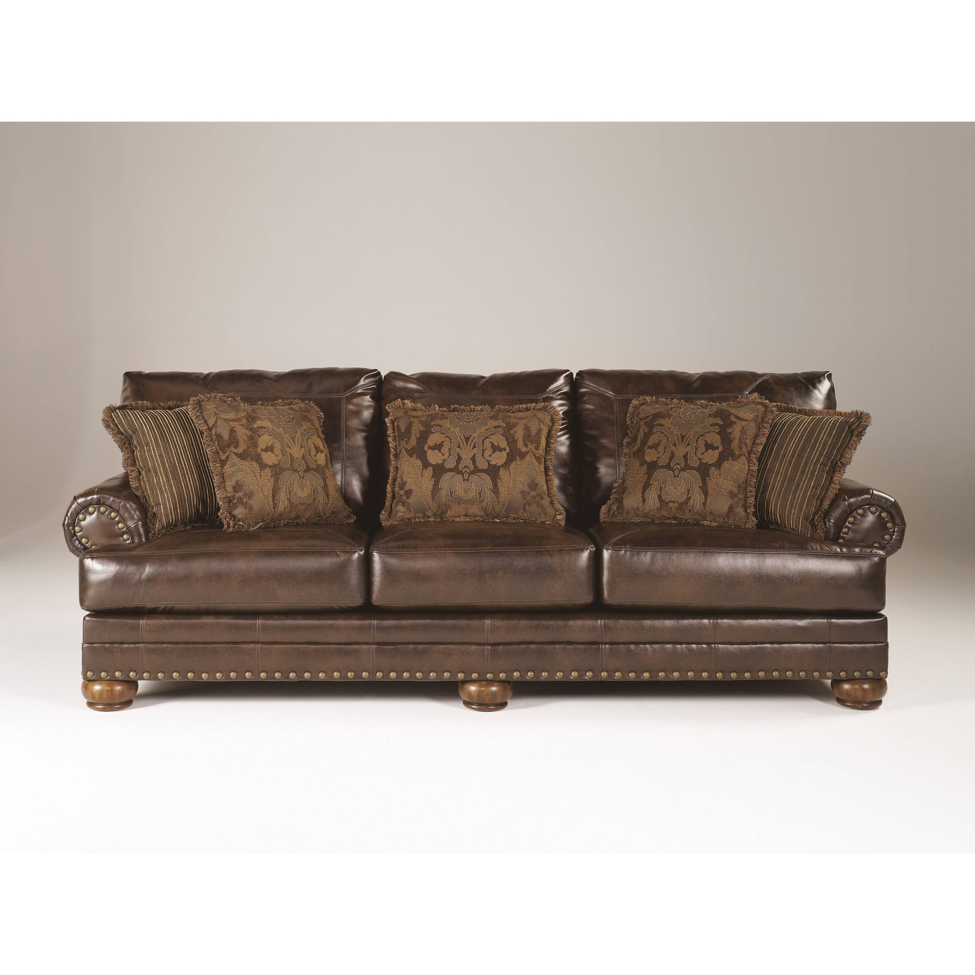 15 s Brown Leather Sofas With Nailhead Trim
