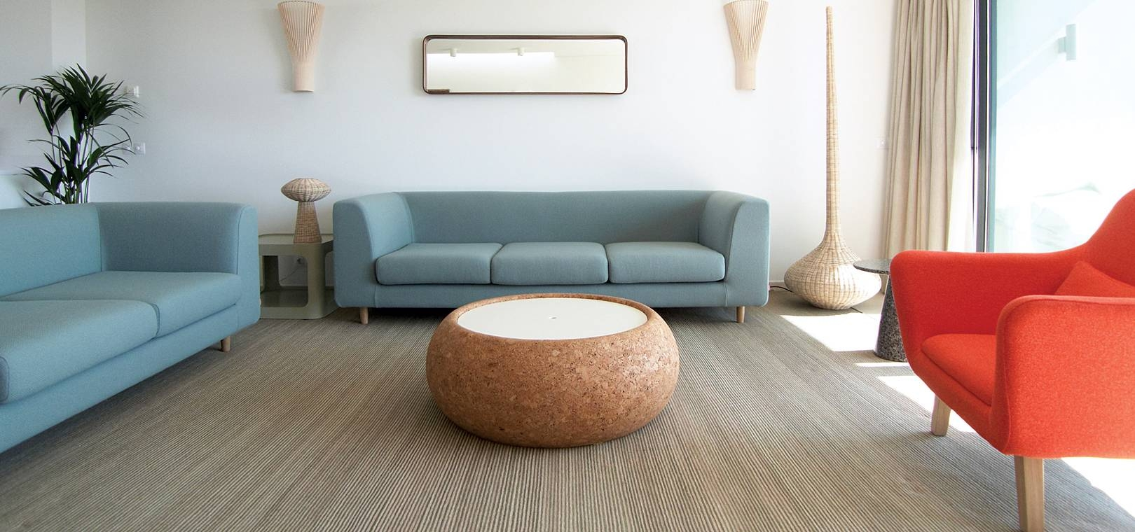 Furniture: Beautiful Round Coffee Table With Contemporary Sofas in Contemporary Sofas and Chairs (Image 9 of 15)